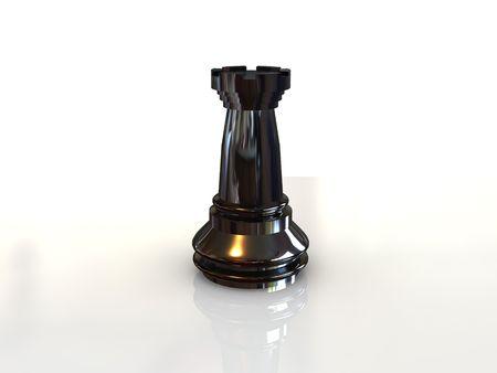 black rook. chess 3D Stock Photo - 3360985