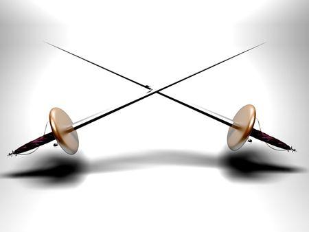 miecze pojedynek Zdjęcie Seryjne