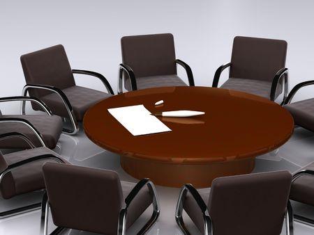 bargaining: bargaining table. 3D Stock Photo