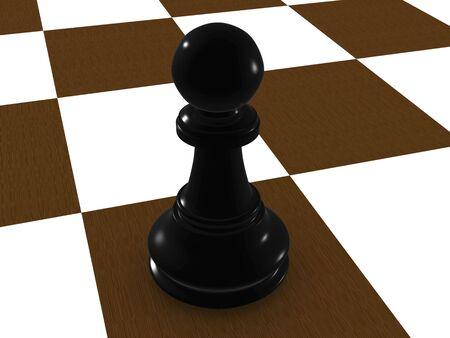 black pawn. 3d Stock Photo - 3543272