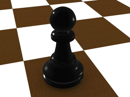 black pawn. 3d Stock Photo - 3543272