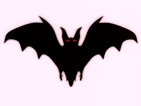 Bat silhouette. 3D Stock Photo - 3599271