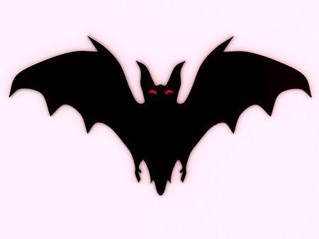 Bat silhouette. 3D photo