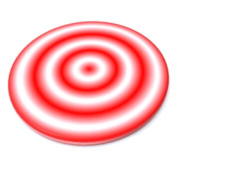raytracing: red target. 3d