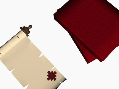 puzzle scroll. 3D photo