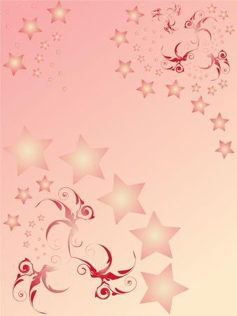 abstact: pinck star abstact