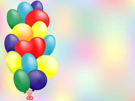 balloon card Stock Photo - 3669537