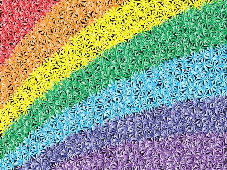 chamomile rainbow Stock Photo - 3669554