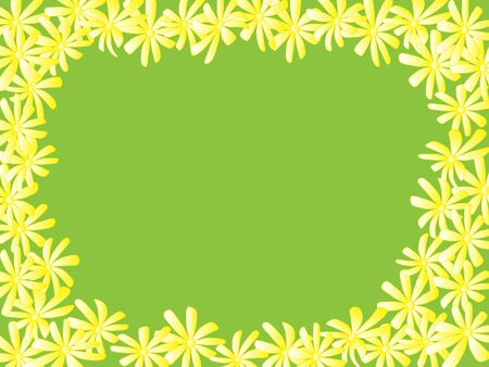 yello: chamomile card. vector