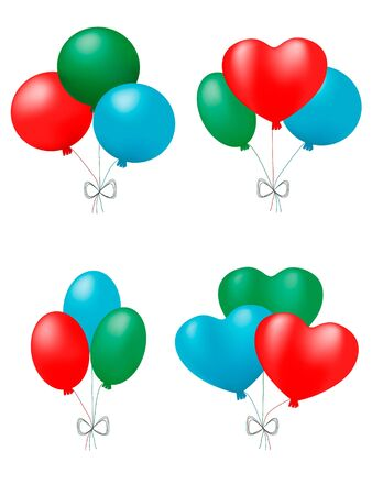 bunches of balloons. vector Stock Photo - 3693290