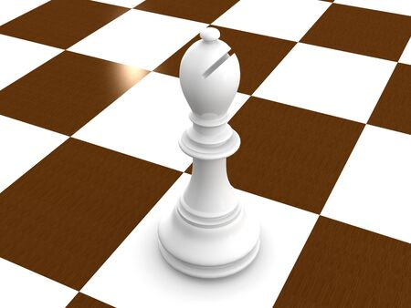 bishop chess. 3d Stock Photo - 3735559