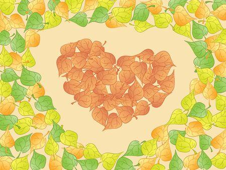 heart leaf abstract. Vector photo