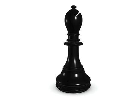 black bishop. 3d chess  game  photo
