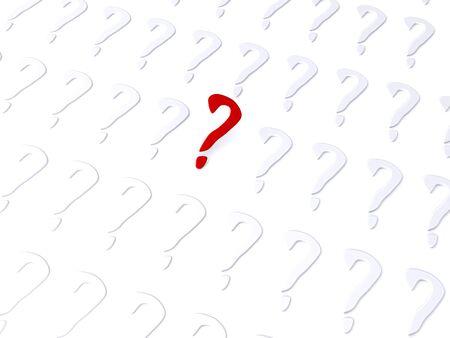 questionable request: question. 3d symbol
