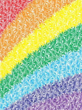 chamomile rainbow. vector photo