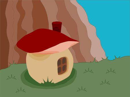 color casa en forma de hongo, vector Foto de archivo - 3773417