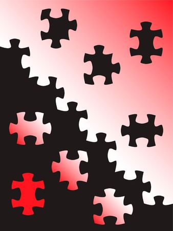 puzzle colored parts backgrounds. vector  photo