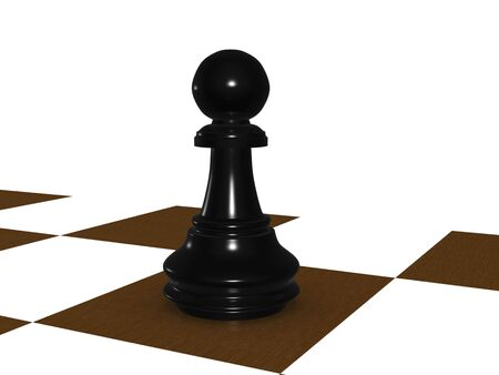 black pawn. 3D Stock Photo - 3809151