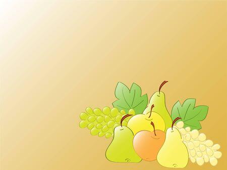 stillife: fruit stillife. vector Stock Photo