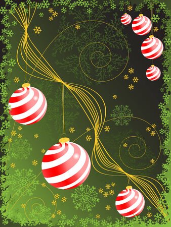 christmas backgrounds: christmas sphere backgrounds. holiday vector  Illustration