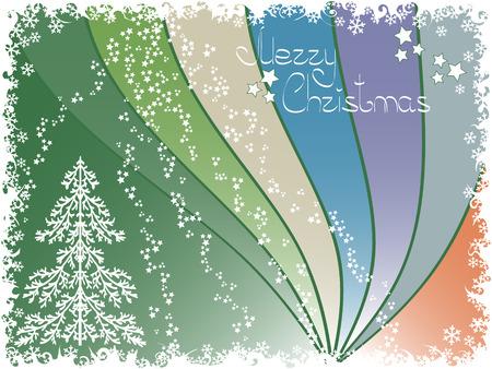 pinetree: antecedentes de vacaciones. tarjeta de Navidad. Vectores