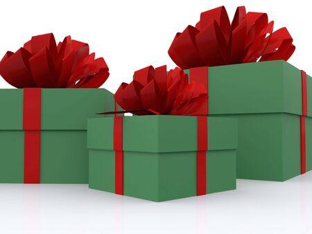 present boxes. 3D Stock Photo - 3927190