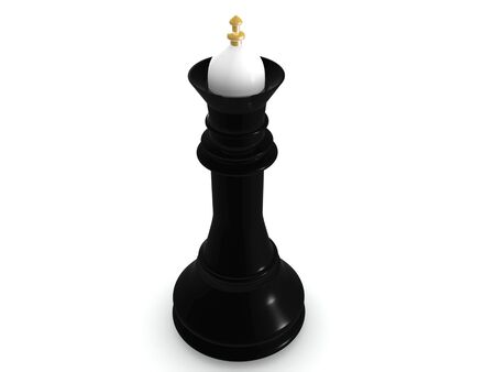 black queen. 3d chess  game  photo