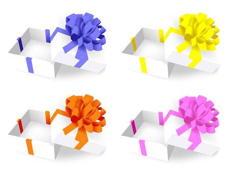 open white gift box. Vector Vector