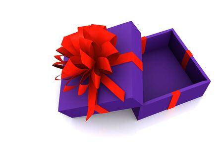 open gift boxe. 3D photo
