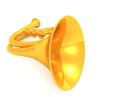 blare: musical instrument horn.3d Stock Photo