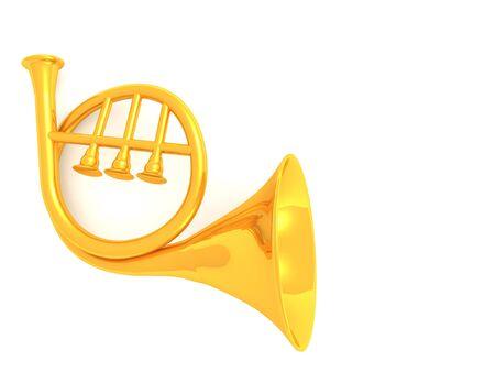 musical instrument horn.3d Stock Photo - 4101895