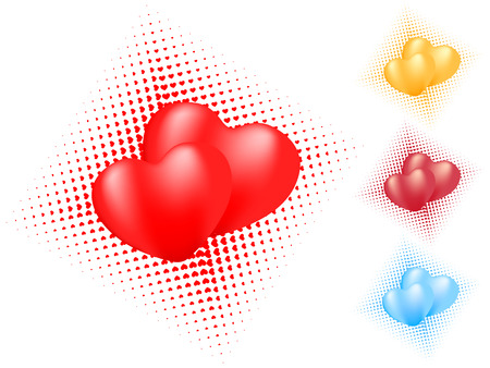 isolated heart background. vector valentine Vector