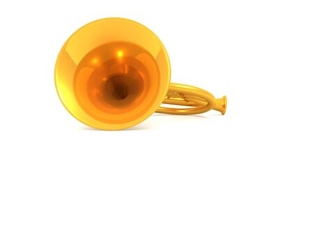 blare: musical instrument horn.3d Stock Photo
