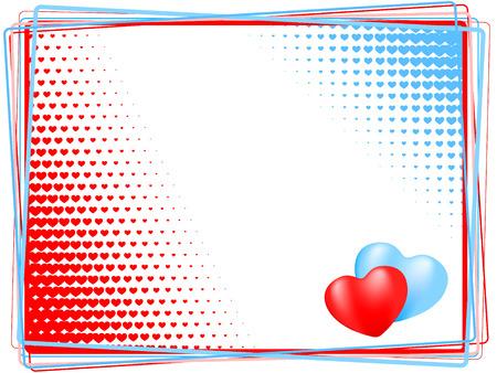 effet: c?ur historique. vecteur de vacances valentine Illustration