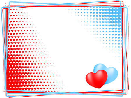heart background. vector holiday valentine Illustration