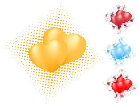 isolated heart pattern. vector valentine Vector