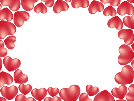 corazones: heart background. vector holiday valentine Illustration
