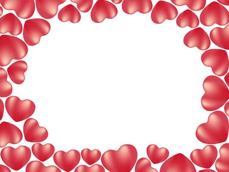 heart background. vector holiday valentine Illustration