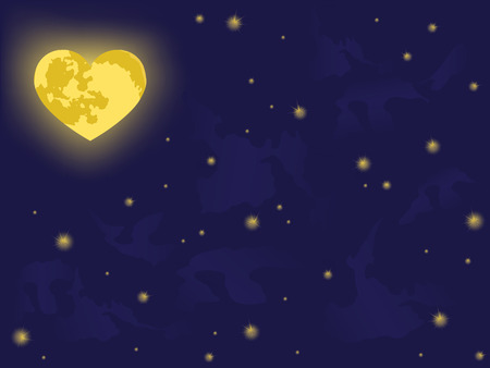 moon on night sky. vector backgrounds