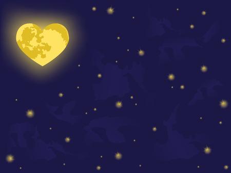 moon on night sky. vector backgrounds Stock Vector - 4260347