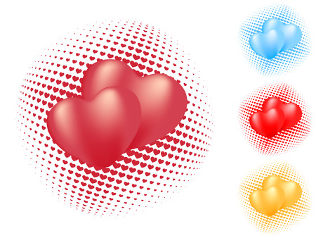 isolated heart pattern. vector valentine
