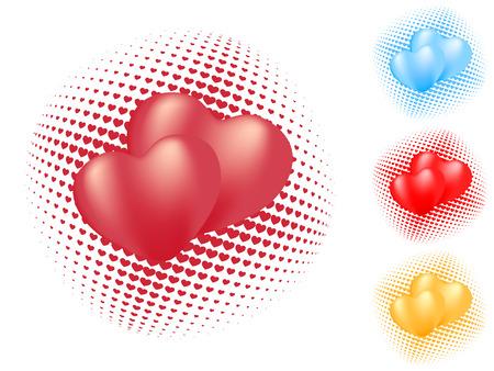 pojedyncze serca wzorca. wektor valentine