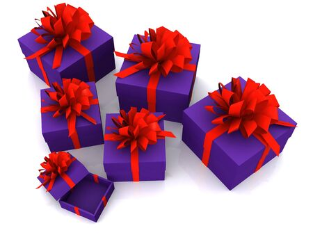 gift boxes. 3D photo