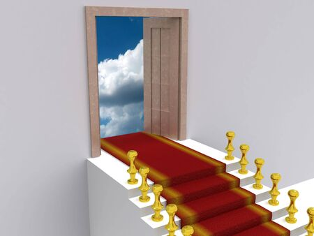 stair to sky. 3d photo