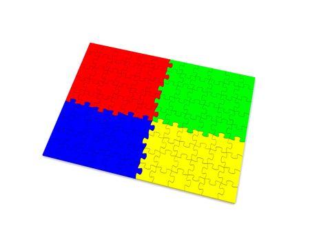 puzzle piece. 3d photo