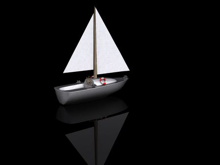 ship. 3D yacht sport icon photo