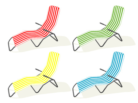 vector chair: lounge. summer vacation
