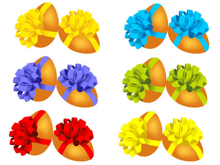 easter eggs with ribbon. vector  Stock Vector - 4522070