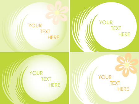 abstract floral buisiness card. Vector Иллюстрация