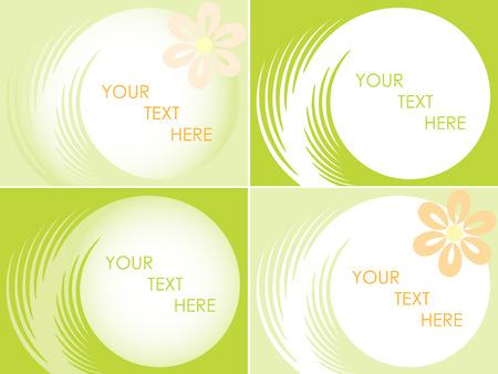 streszczenie kwiatów buisiness karty. Vector